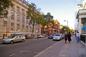 Exhibition Road, Londres, antes da remodelação.