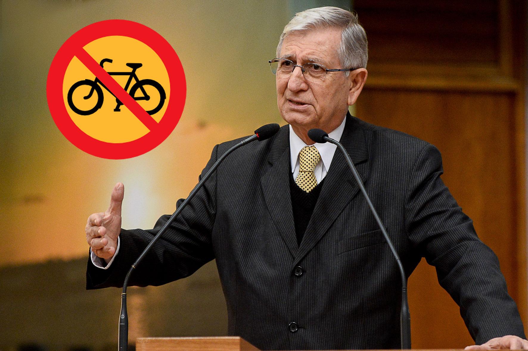 vereador nedel é contra bicicletas